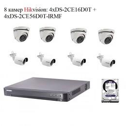 Комплект Hikvision A8x 2mPx