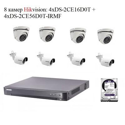 Комплект Hikvision A8x 2mPx: описание, характеристики