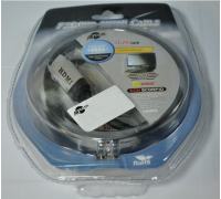 Кабель HDMI  v1.4 Metal Gold 2m (блистер)