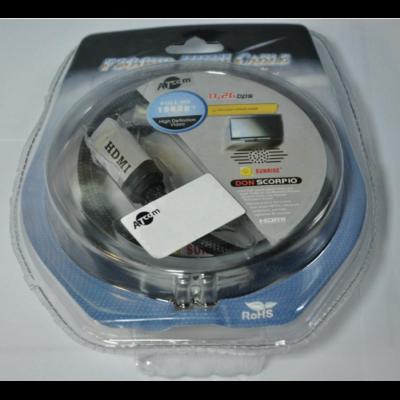 Кабель HDMI  v1.4 Metal Gold 2m (блистер): описание, характеристики