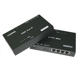 HDMI удлинитель со свичем (4 порта) по витой паре 120 м