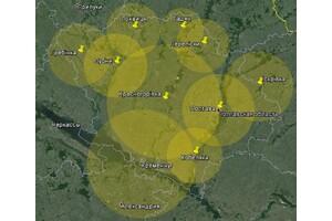 Покрытие Т2 в Полтавской области