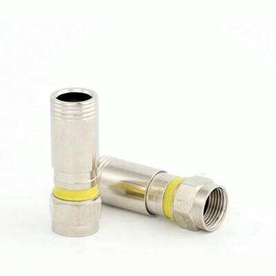 Штекер F компрессионный для кабеля RG-6 тип 2: описание, характеристики