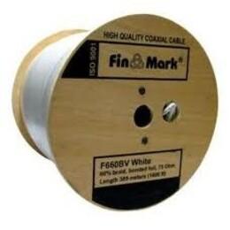 TV кабель FinMark F660BVcu, белый, медный, 305 м