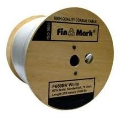 TV кабель FinMark F660BVcu, белый, медный, 305 м: описание, характеристики