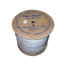 TV кабель FinMark F690BVcu, белый, медный, 305 м