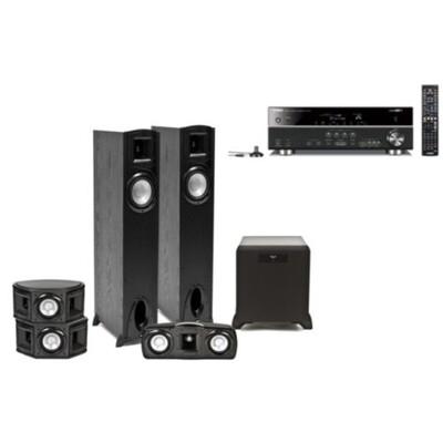Комплект домашнего кинотеатра Klipsch + Yamaha: описание, характеристики