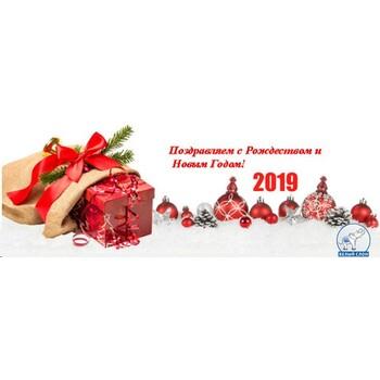 Поздравления с Новым Годом 2019! График работы!