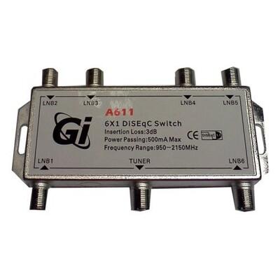 Дисек спутниковый 6х1 GI A611: описание, характеристики