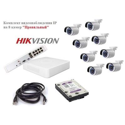 Комплект видеонаблюдения IP на 8 камер  «Правильный»: описание, характеристики