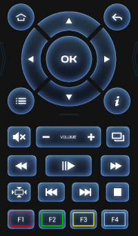 Iptv приставка Aura HD Plus remote2